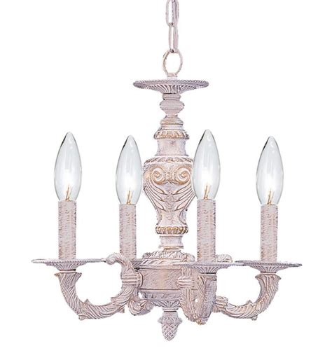 crystorama sutton 4 light antique white mini chandelier