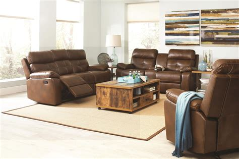 Damiano Faux Leather Reclining Living Room Set From