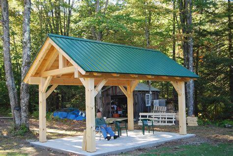 timber frame pavilion  athens vt vermont frames