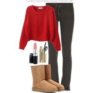 caroline forbes inspired casual christmas outfit polyvore