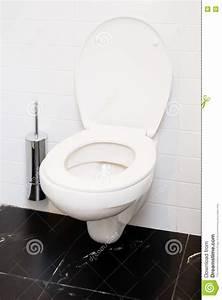Open White Flush Toilet Bowl. Indoor Stock Image - Image ...