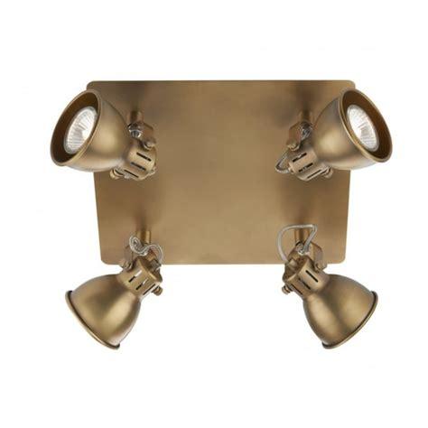 4 spotlight ceiling light brass kitchen spotlights idaho square ceiling spotlight