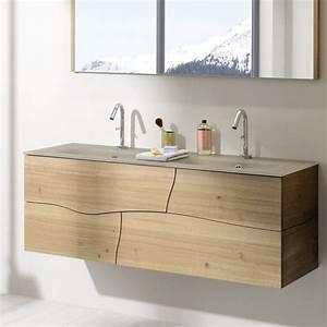 meuble salle de bain bois sanijura meubles de salle de With meuble de salle de bain bois massif