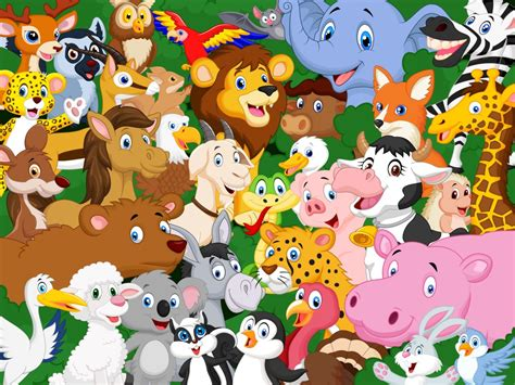 Cartoon Animals Jigsaw Puzzle In Animals Puzzles On