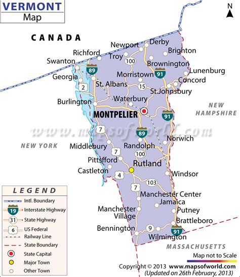 vermont located location map  vermont