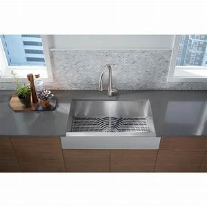 sterling ludington apron front stainless steel 32 in With 27 apron front sink