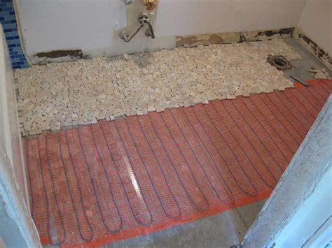 Innovative Flooring: Heated Stone bathroom floor
