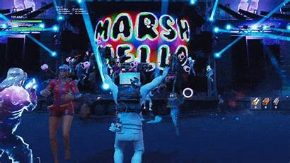 Marshmello Concert Fortnite Dj Dance Event Epic