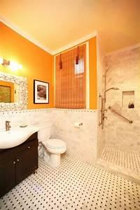 Salle De Bain Orange : couleur salle de bains id es sur le carrelage et la peinture ~ Preciouscoupons.com Idées de Décoration