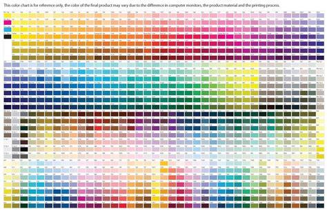 pantone color chart all colors moderndesigninterior