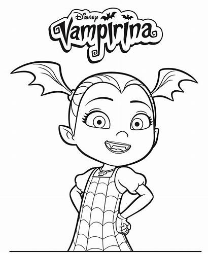 Vampirina Coloring Disney Pages Junior Printable Dvd