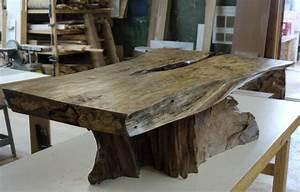 Table Bois Exotique : table caf bois exotique organique tamarin et teck live edge exotic tamarin and teak wood ~ Farleysfitness.com Idées de Décoration