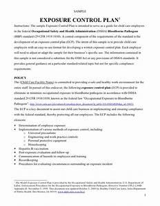bloodborne pathogens exposure control plan template plan With bloodborne pathogens policy template