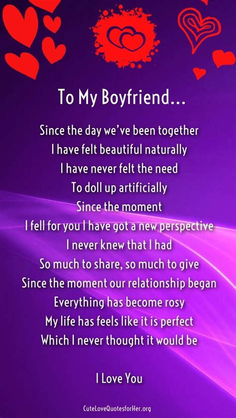 Boyfriend Love Poems for Him