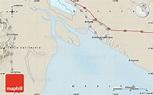 Shaded Relief Map of El Golfo De Santa Clara