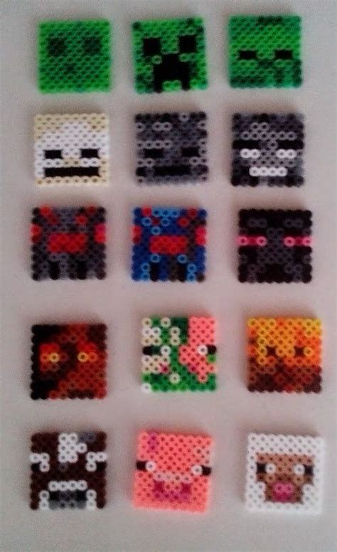 Perler Bead Minecraft Mob Faces