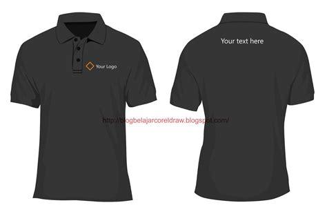 desain kaos polo shirt format vector belajar