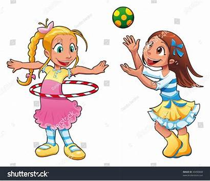 Playing Cartoon Funny Characters Clipart Having Shutterstock