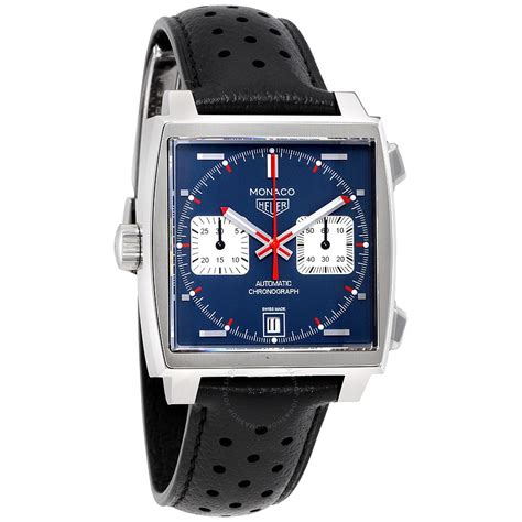 tag heuer watches tag heuer monaco automatic denim blue dial men 39 s watch