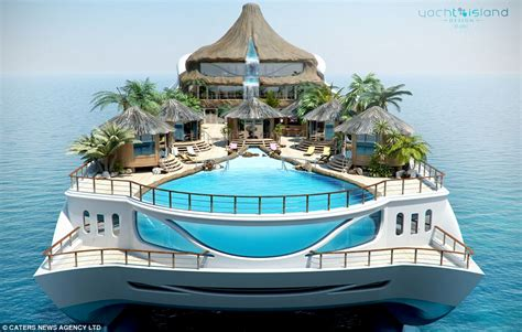 yacht island your very own portable tropical island a new super yacht with its own functioning volcano and