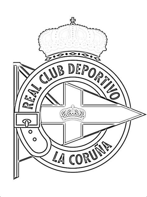 Kleurplaat Spaanse Vlag by Kleurplaat Deportivo La Coru 241 A Gratis Kleurplaten