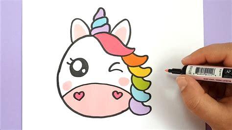 bilder zum nachmalen für kinder kawaii regenbogen einhorn emoji selber malen diy