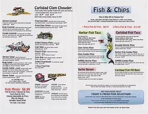 Harbor Fish Cafe Menu Carlsbad