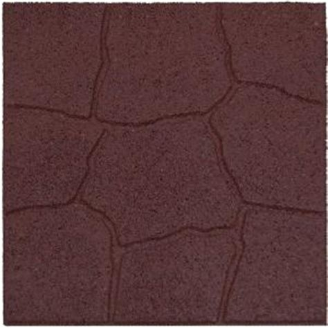 outdoor rubber flooring home depot envirotile 18 in x 18 in flagstone terra cotta rubber