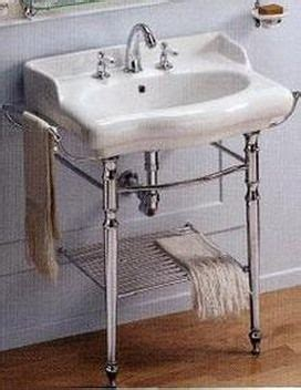 pedestal sink with metal legs milusa combines a vintage look with exquisite