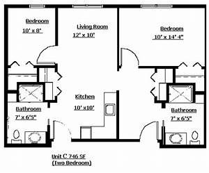 2 bedroom apartment layout grace lodge assisited living for Two bedroom layout plan