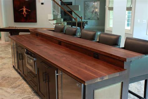 custom walnut counter  raised bar top  aaron