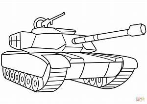 Military Tank coloring page | Free Printable Coloring Pages