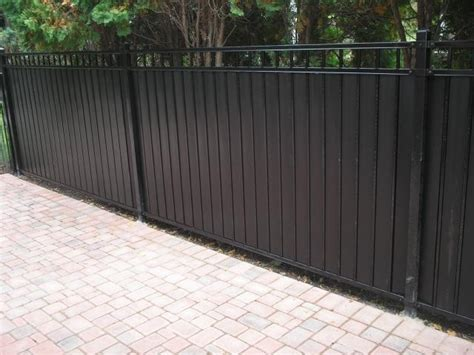 privacy slats  ornamental iron fence fence pinterest