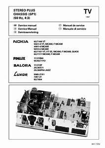 Nokia Itt Chassis Core 110 Ideal Color 5520 6320 6340 7140 Salor Graetz 25c60 Service Manual