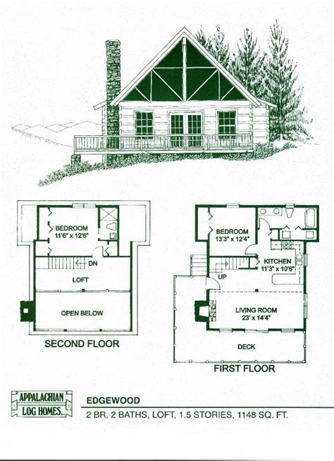 one bedroom cabin plans appalachian log timber homes edgewood log cabin hybrid 16553 | de8c284eab78451d933043db39762eb1
