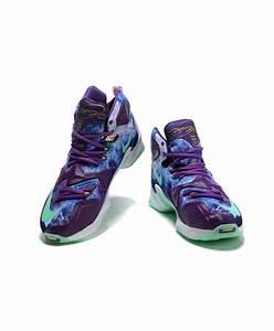 "Lebron 13 ""NIKEiD Purple"" Lebron James 2016 Shoes Lightgreen"