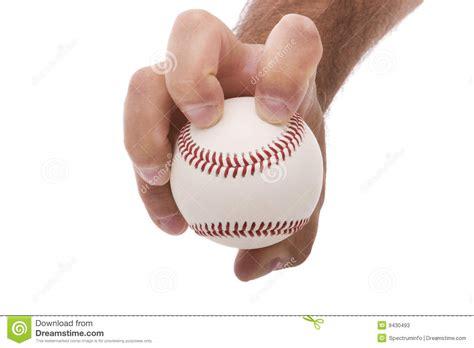 knuckleball baseball pitching grip stock  image