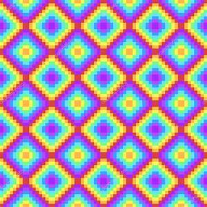 pixel art rainbow colored background stock vector With tapis shaggy avec canape vintage noir