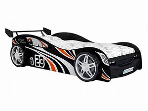 Lit Voiture 90x190 : lit voiture faster 90x190 cm noir lit enfant vente ~ Teatrodelosmanantiales.com Idées de Décoration