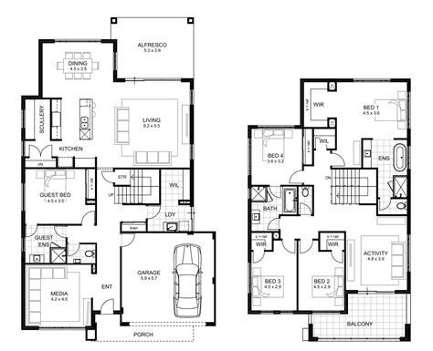 5 bedroom floor plans 2 5 bedroom house designs perth storey apg homes