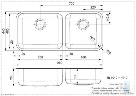 IB (L) 5040+4040 integrētā virtuves izlietne | Vannupasaule.lv