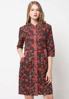 model dress batik modern    terbaru