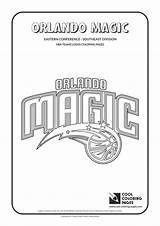 Coloring Nba Pages Magic Orlando Basketball Logos Cool Teams Team Clubs Conference Easter Sports Southeast Sheets Lakers Sketch Template Zapisano sketch template