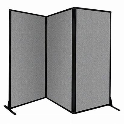 Portable Partition Folding Divider Afford Freestanding Panel