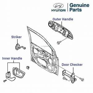 Hyundai Getz Prime  Left Side Front Door Handle  Lh  Inner