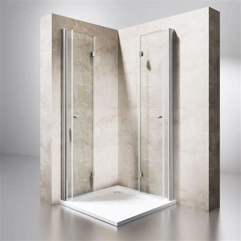 Dusche Duschkabine Falttür Echtglas Duschabtrennung