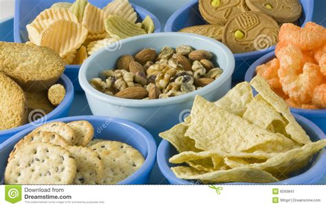 snack cuisine snack foods in containers stock image image of calories