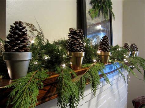 decorate  mantel  winter hgtv