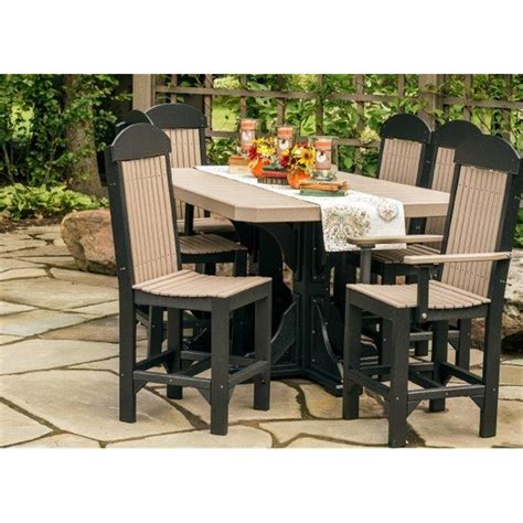 poly 4x6 regtangle pedestal table set