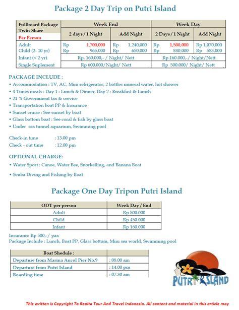 paket wisata pulau seribu murah paket pulau seribu
